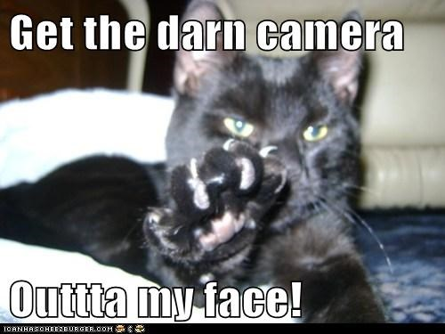 Get the darn camera  Outtta my face!