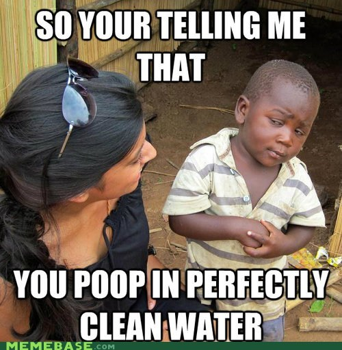 clean,poop,skeptical,Third World Succ,Third World Success Kid,water