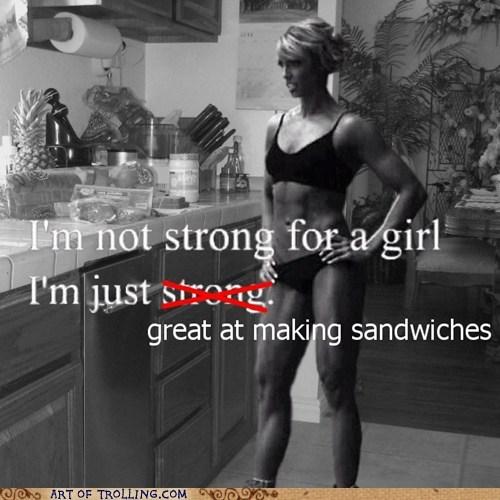 IRL,sandwiches,strong,women
