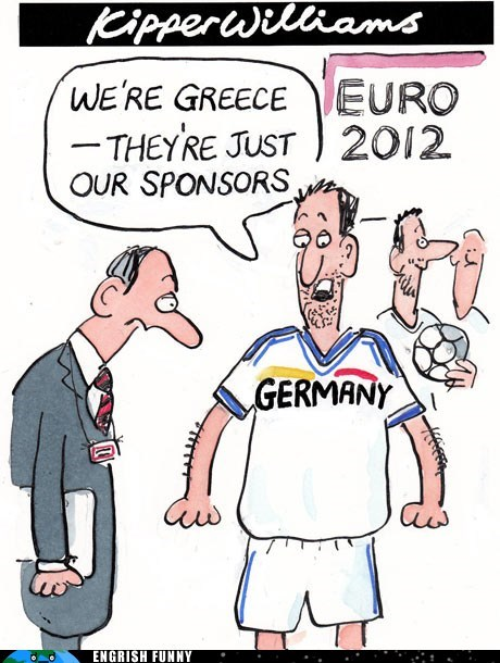 euro 2012,Germany,greece,kipper williams,newspaper comic,the guardian