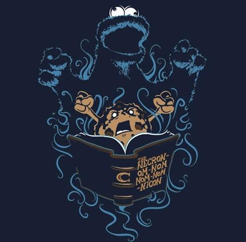 Cookie Monster,evil dead,Sesame Street
