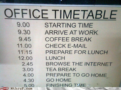coffee,coffee break,lunch,office timetable