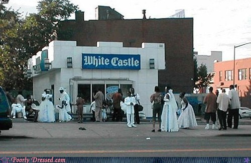 fast food,wedding,wedding dress,White Castle