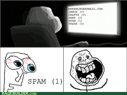 email,forever alone,Rage Comics,spam