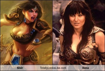 Sivir Totally Looks Like Xena (Lucy Lawless)