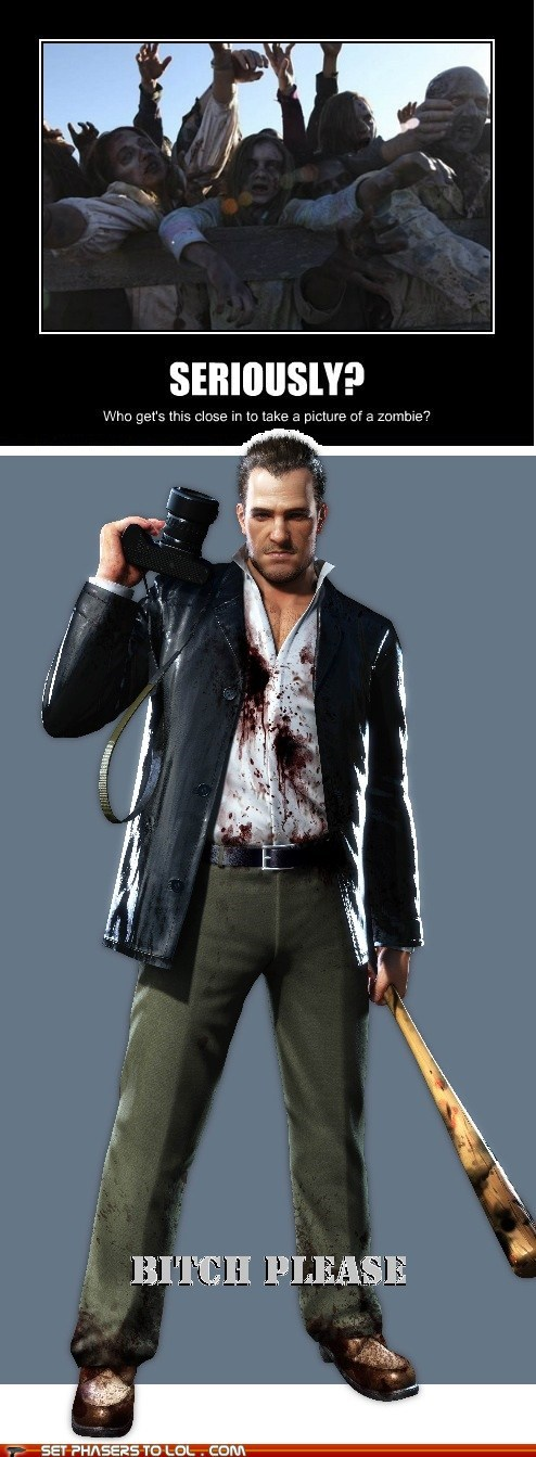 The Walking Dead,seriously,frank west,Dead Rising,zombie,close,picture