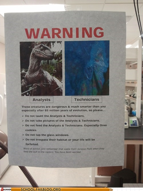 Jurassic Lab is a Scary Place