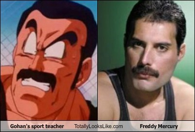 Gohan's Sport Teacher Totally Looks Like Freddie Mercury