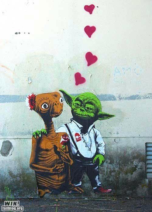 E.T,hacked irl,nerdgasm,star wars,true love,yoda