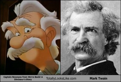 "Captain Neweyes from ""We're Back! A Dinosaur's Story"" Totally Looks Like Mark Twain"