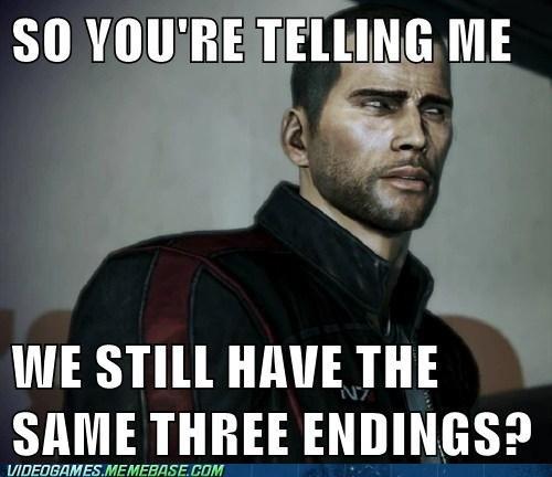 endings,mass effect,mass effect 3,meme,skeptical shepard