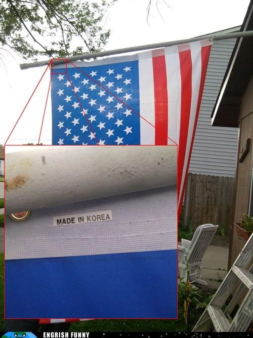 america,American Flag,made in korea,south korea