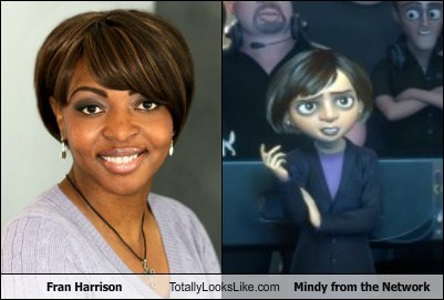"Fran Harrison Totally Looks Like Mindy from ""The Network"""