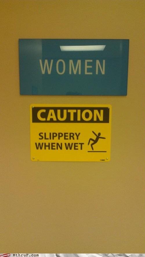 slippery when wet,women