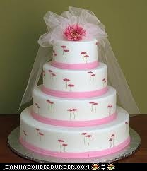 Pink n' White Wedding Cake