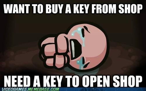 binding of isaac,keys,meme,PC