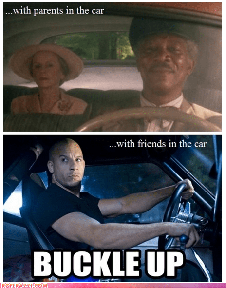 celeb,driving miss daisy,Fast and Furious,funny,jessica tandy,Morgan Freeman,Movie,vin diesel