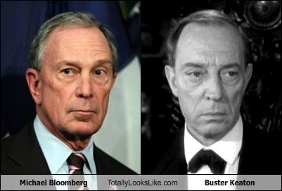 Michael Bloomberg Totally Looks Like Buster Keaton