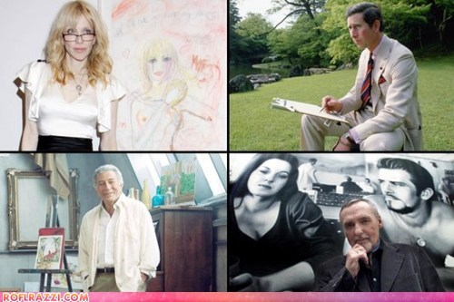 art,artist,courtney love,dennis hopper,James Franco,the daily beast