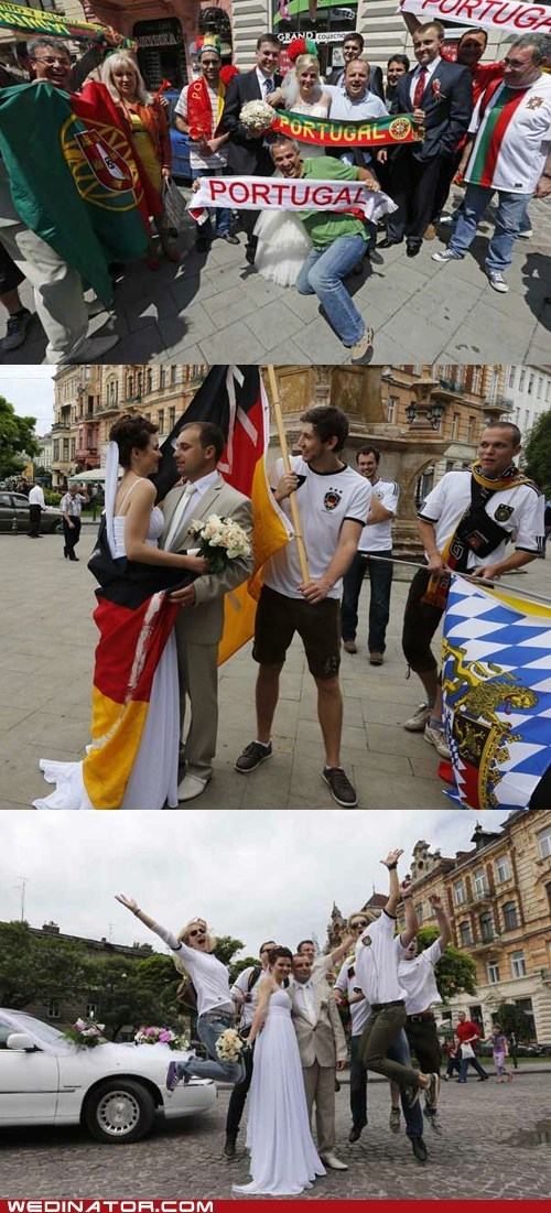 bride,european championships,football,funny wedding photos,Germany,groom,portugal,soccer,sports,ukraine