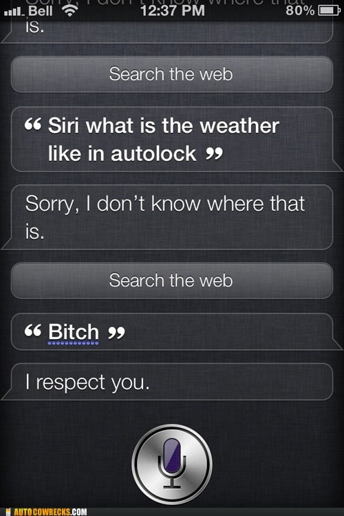 Good To See Siri Keep a Cool Head