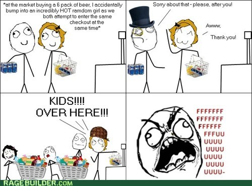 chivalry,fu guy,groceries,Rage Comics,scumbag hat