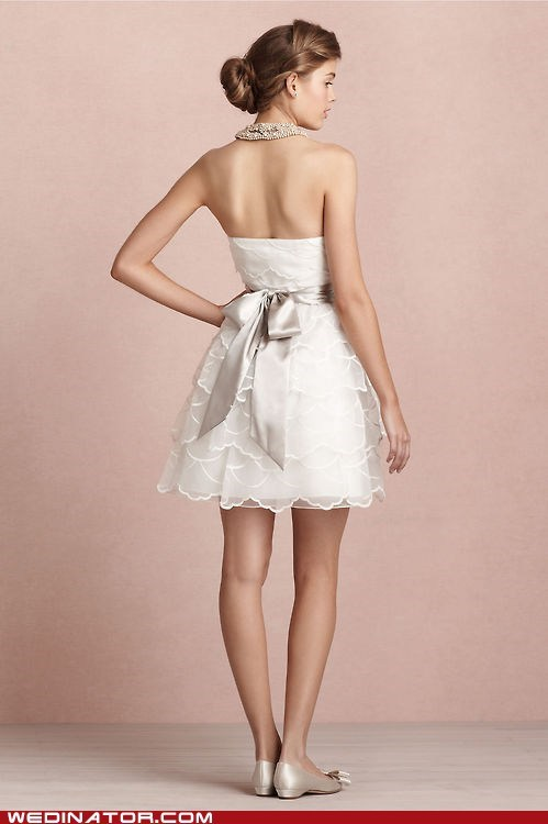 Just Pretty: Layered Short Wedding Dress