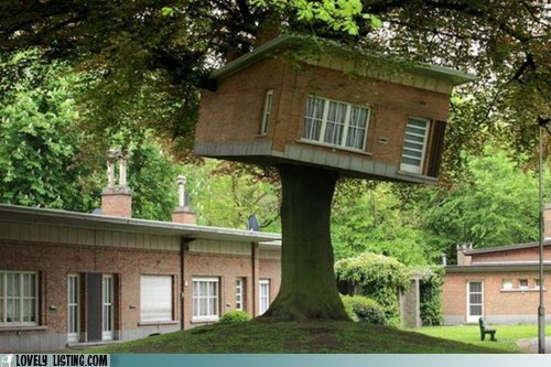 brick,heavy,ridiculous,silly,treehouse