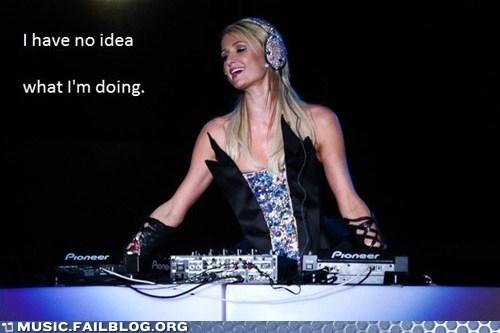 LOL! Paris Hilton DJ!