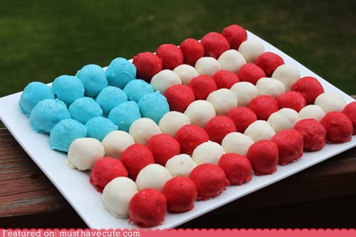 4th of july,cake balls,epicute,flag,holiday,Party,summer