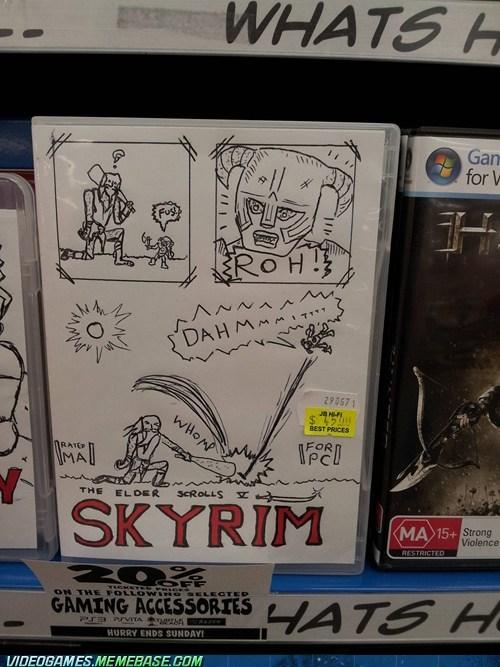 art,box art,cover,fus ro dah,IRL,Skyrim