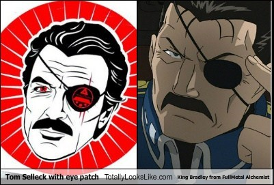 Tom Selleck With Eye Patch Totally Looks Like King Bradley from FullMetal Alchemist
