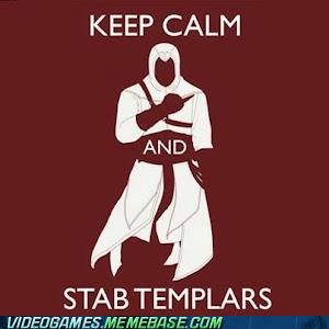 assassins creed,keep calm,meme,templars