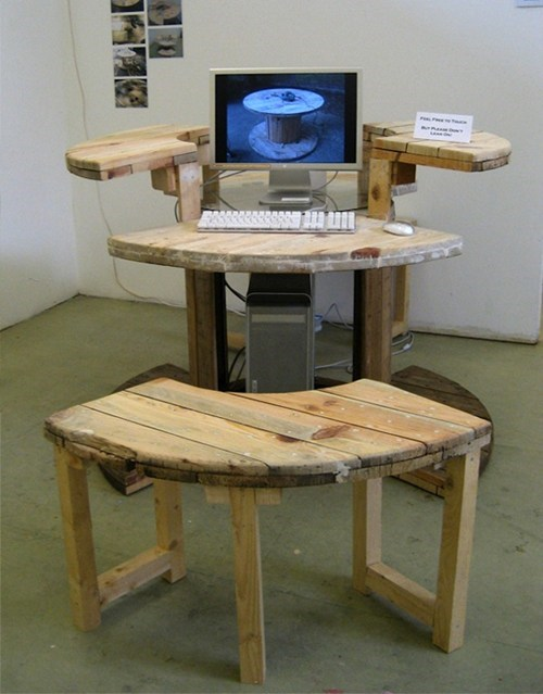 Cable Reel Computer Desk of the Day