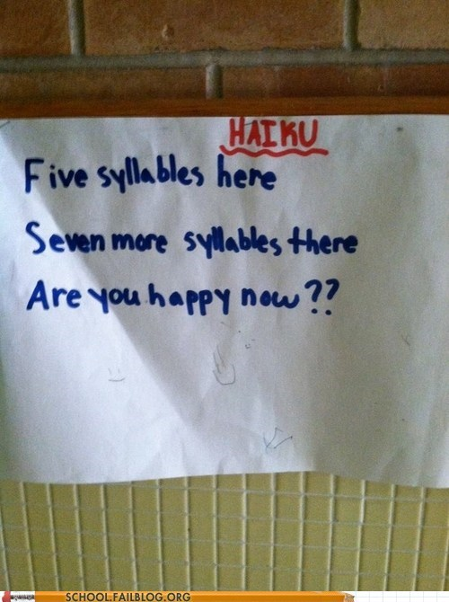 Haiku By a 4th Grader