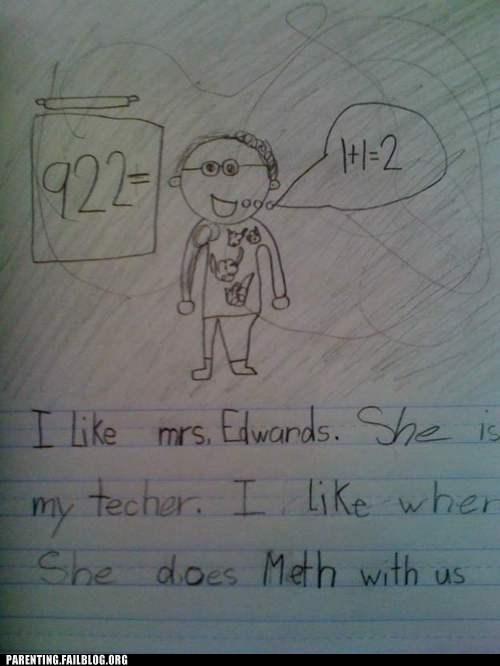childrens-writing,meth,teacher