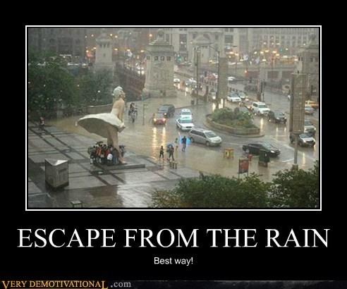 best way,escape,hilarious,rain
