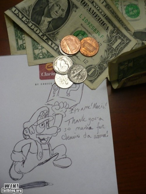 Leaving a Tip WIN