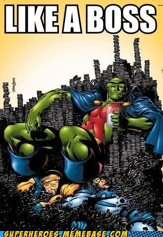 Martian Manhunter's the cookie boss