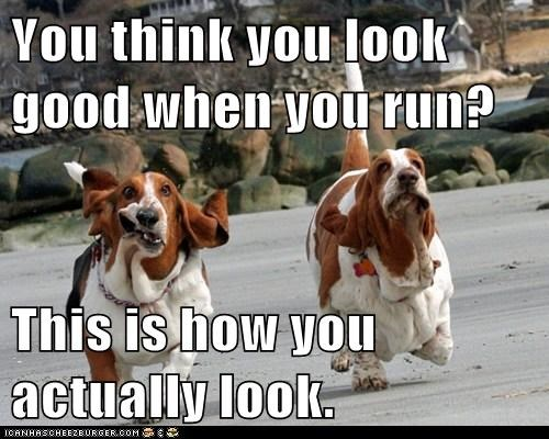 You think you look good when you run?  This is how you actually look.