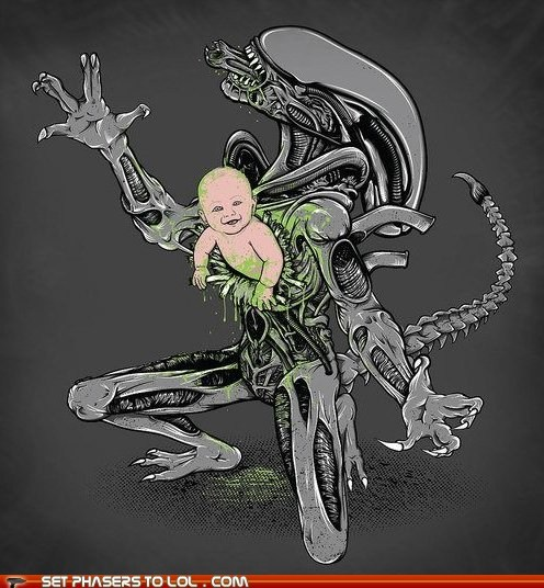 alien,Aliens,baby,best of the week,chestburster,Tables Turned,xenomorph