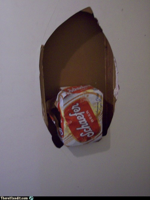 beer,beer box,hole in the wall