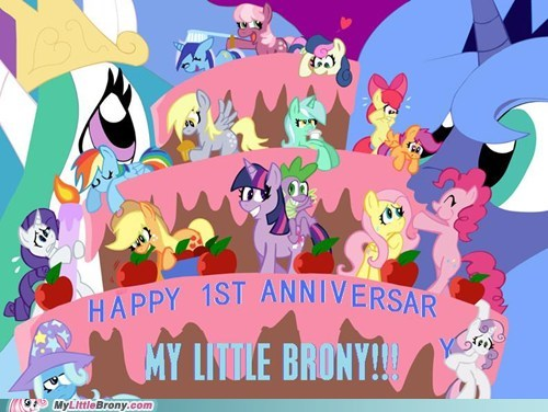 anniversary,Bronies,memebase,meta,mod says thanks,my little brony,the internets