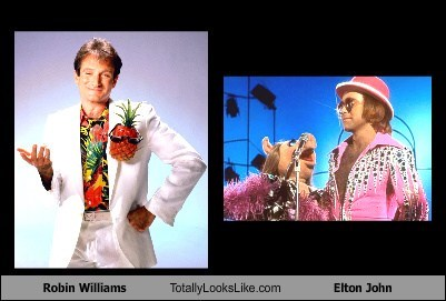Robin Williams Totally Looks Like Elton John