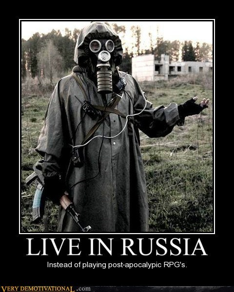 coat,gas mask,hilarious,post apocalypse,russia