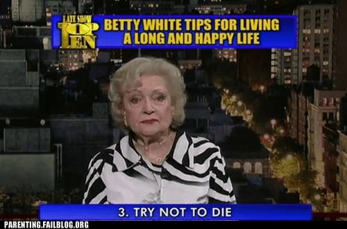 betty white,David Letterman,top ten