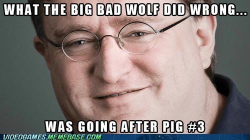 3,Big Bad Wolf,gabe newell,meme,valve