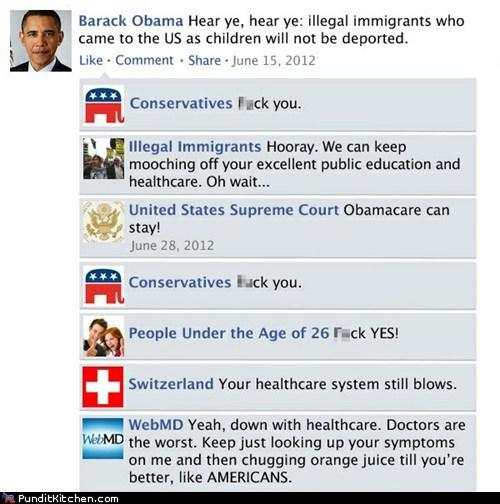barack obama,facebook,Hall of Fame,political pictures,universal healthcare