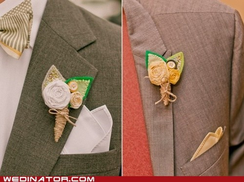 Boutonnieres,crafts,funny wedding photos,grooms,Groomsmen,just pretty,menswear