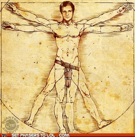 Nathan Fillion by Leonardo da Vinci